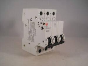 Wylex MCB 50 Amp Triple Pole Circuit Breaker Type C 50A PSB350-C Series 3