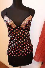 Top  Maglia t-shirt canotta cuori  D & G Dolce & Gabbana underwear hearts