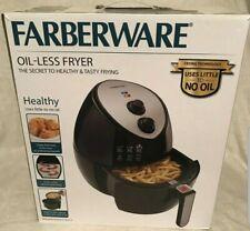 Farberware 42138 3.2 Quart Oil-Less Multi-Functional Air Fryer, Black - NEW