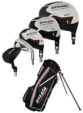 New Strata Golf 12 Piece Complete Set with Bag Graph/Steel Regular Flex [2015]