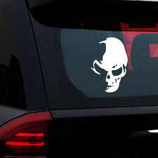 Skull Vinyl Car Decal Window Truck Bumper Auto Laptop Decals Universal White 1pc