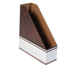 Bankers Box Corrugated Cardboard Magazine File 4 X 11 X 12 3/4 Wood Grain 12/CT