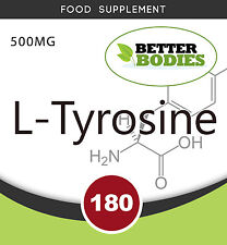 L-Tyrosine 500mg 180 Caps Mood enhancer, Anti depressant, Alertness amino acid