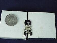 911 CITY OF NEW YORK POLICE BLACK RIBBON PIN
