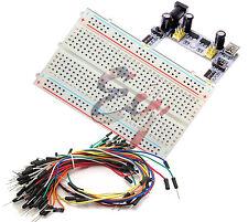 Mini Prototype test board deck & K2 Power Supply & 65pcs Breadboard Wire cable