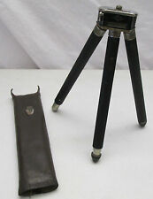 1950's SUSIS Schroder & Sohne Tripod from Germany w/Leather Case Telescoping