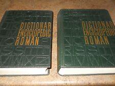Dictionar Enciclopedic Roman Volumes 3 and 4