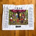 1996 vintage calendar tapestry wall decor hanging art