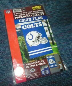 """Indianapolis COLTS Premium Outdoor Flag Indoor Banner Oversized 44"""" X 28"""" NEW"""