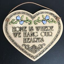 """Trinity Pottery """"A Mother's Love Is The Heart Of The Home"""" Wall Heart Plaque"""