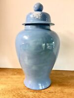 Ginger Jar Blue With White floral design. 4.5 w x 15.5 tall Vintage 1980