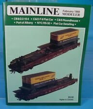HO, S, O SCALE MAINLINE MODELER MAGAZINE FEBRUARY 1989 TABLE OF CONTENTS PICTURE