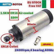 【IT】1.5KW ER16 Air Cooled Spindle Motor 220V 80mm 24000rpm 400Hz Engrave Milling