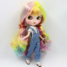 > Factory Doll Blythe Clone Rainbow Colors Long Hair JOINTED NUDE Hand Sets <