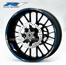 Yamaha YZF-R1 motorcycle wheel decals stickers rim stripes Laminated yzf r1 blue