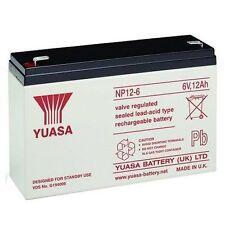 YUASA NP12-6 SEALED LEAD ACID BATTERY 6v 12Ah BATTERY TOY CAR BATTERY