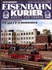 Eisenbahn Kurier n°12 1993 - T 9 1 und T 9 2 in Mecklenburg -  Tr.20