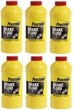 (6) Prestone  AS800Y 12 ounce DOT 4 Synthetic Heavy Duty Brake Fluid