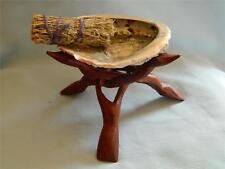 Smudging Set/Sage Smudge Stick/Abalone Shell/Stand/Ritual/Native American