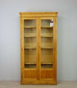 Vitrinenschrank Bücherschrank Schulvitrine Bookcase Vitrine Holz abschließbar