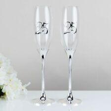 Celebrations 25th Wedding Anniversary Champagne Flutes Gift Set