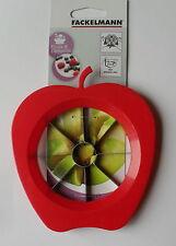 Apple CAROTATORE Cutter affettatrice, Nucleo Remover, lama in acciaio, forma di mela, Fackelmann