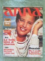 ANNA N20 5/1991 ITALIAN MAGAZINE ITALIAN FASHION HUPPERT LEA MASSARI LE CARRE #9