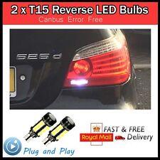 2 X T15 W16W LED Bombilla De Reversa BMW AUDI A3 A4 VW E60 serie 5 serie 3 E90 E91