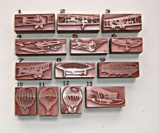 """AIRPLANES, AIRSHIPS & BALOONS""  Printing Blocks."