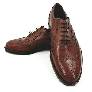 MENS  LEATHER BROGUE UK SIZE 8 FORMAL SHOES