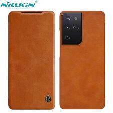 Original Nillkin Fr Samsung Galaxy S21 Ultra S20 FE Retro Slot Leather Flip Case