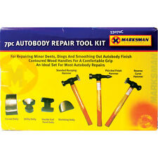 NEW 7 PC CAR AUTO BODY PANEL REPAIR TOOL KIT WITH WOODEN HANDLES BEATING HAMMERS