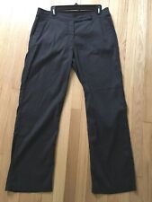Eileen Fisher ~ Linen & Viscose Blend ~ Pants ~ 12 ~ Dark Gray ~ Useful ~ EUC