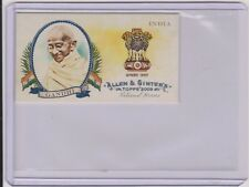 2009 ALLEN & GINTER MOHANDAS GANDHI MINI CARD #NH10 ~ INDIA ~ NATIONAL HEROES
