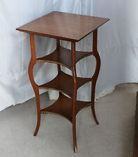 Antique Four Tiered Oak Parlor Table Taller Stand