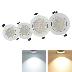 Recessed Led Ceiling Down Light Dimmable 9W 15W 21W Lamp Fixture Spotlight Round