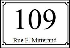 plaque pvc numero de rue ou de maison 150x100mm blanche