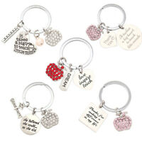 Stainless Steel  Key Holder  Graduation Keychain  Teacher Gift Teacher Keyring