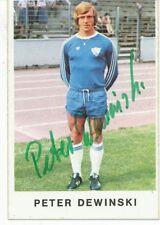 Peter Dewinski   VFL Bochum 1975/76 Bergmann SB signiert 404556