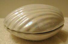 Italy Studio Art Pottery Shell Shaped Trinket Box Signed Cabella Gabbio Italy