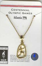 1996 ATLANTA OLYMPIC SPORT TENNIS PENDANT ON CHAIN NEW