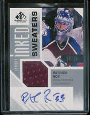 2016-17 UPPER DECK SP GAME USED ED INKED SWEATERS PATRICK ROY AUTO JERSEY 10/10