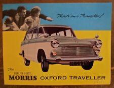 Morris Oxford viajero Orig 1966 Reino Unido Mkt folleto de ventas-BMC H&E 2360