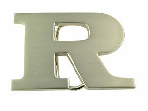 """INITIAL """"R"""" METAL STAINLESS STEEL BELT BUCKLE"""