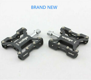 1Pair WELLGO MTB Road Bike Pedals Folding Bicycle Sealed Bearing Flat Pedals New