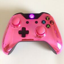 Xbox One 1 Custom Wireless Controller (Chrome Pink) Domed Thumbsticks