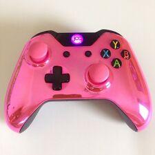 Xbox One 1 Custom Manette Sans-fil (chromé Rose) bombé Sticks analogiques
