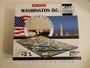 Washington DC 4D Cityscape History over Time Puzzle 1100+ Sealed Pieces Open Box