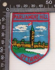 VINTAGE PARLIAMENT HILL OTTAWA EMBROIDERED SOUVENIR PATCH CLOTH SEW-ON BADGE