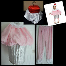 Wishcraft Chasing Fireflies Girls Cupcake Costume Pink Silver Halloween Size 16